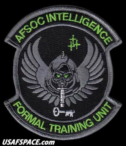 AIR FORCE SPECIAL OPERATIONS COMMAND INTELLIGENCE FORMAL TRAINING USAF VEL PATCH