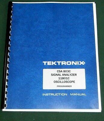 Tektronix Csa 803c 11801c Programmer Manual Comb Bound Protective Covers
