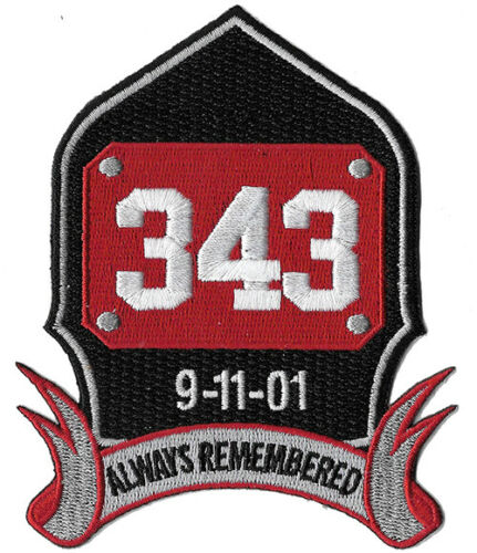 343 9-11 Helmet Shield Always Remembered NEW Fire Patch