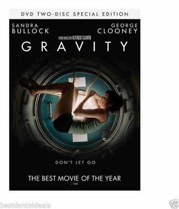 Gravity Two Disc Special Edition Set (DVD 2014) Sandra Bullock