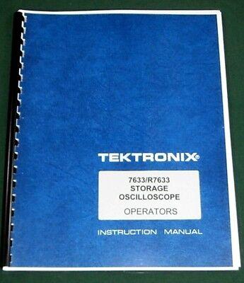 Tektronix 7633 Operators Manual Comb Bound Plastic Protective Covers