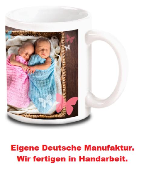 Foto o. Logo auf Tasse drucken Fototasse-schönes Geschenk mit eigenem Bild Cla.