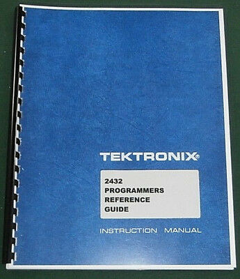 Tektronix 2432 Programmers Manual Comb Bound Protective Plastic Covers
