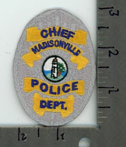 LOUISIANA LA MADISONVILLE POLICE CHIEF NEW PATCH SHERIFF