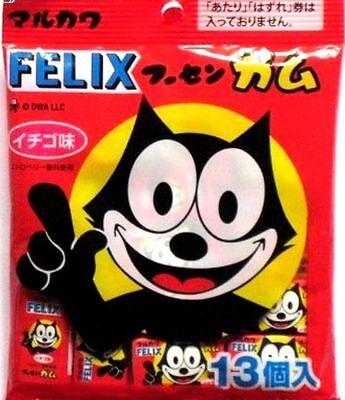 FELIX Marukawa bubble gum strawberry flavor 13 pieces popular tasty japan F/S