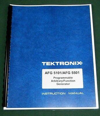 Tektronix Afg 5101 Afg 5501 Operators Manual Comb Bound Protective Covers