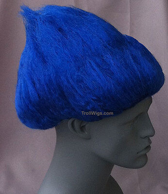 TROLL WIG THING Costume One 1 2 Two Blue Orange Yellow Red Green Purple Pink - Thing One Thing Two Wigs
