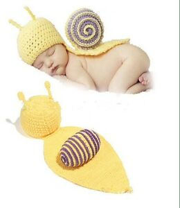 Knit snail - baby photo outfits