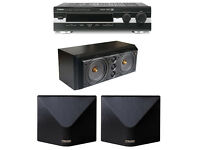 High quality surround set up Yamaha DSP E800 processor, Mission 77c & 77ds speakers
