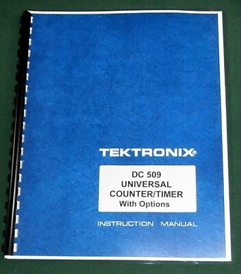 Tektronix Dc 509 Instruction Manual W 11x17 Foldouts Protective Covers