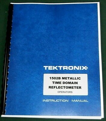 Tektronix 1502b Operator Manual Comb Bound Protective Covers