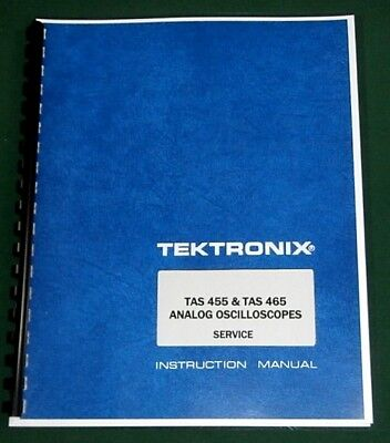 Tektronix Tas 455 Tas 465 Service Manual Comb Bound Protective Covers