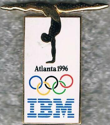 1996 Atlanta IBM Logo Olympic Gymnastics Sponsor Sports Pin  Atlanta 1996 Olympics Pin