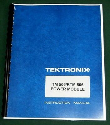 Tektronix Tm 506 Rt 506 Instruction Manualw11x17 Foldouts Plastic Covers
