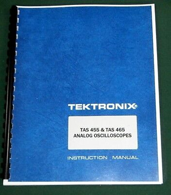 Tektronix Tas 455 Tas 465 Instruction Manual Comb Bound Protective Covers