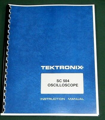 Tektronix Sc-504 Instruction Manual W 11x17 Foldouts Protective Covers