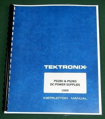 Tektronix PS280 & PS283 User Manual: Comb Bound & Protective Plastic Covers