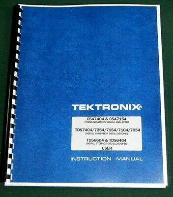 Tektronix Csa 7404 Csa 7154 User Manual Comb Bound Protective Covers