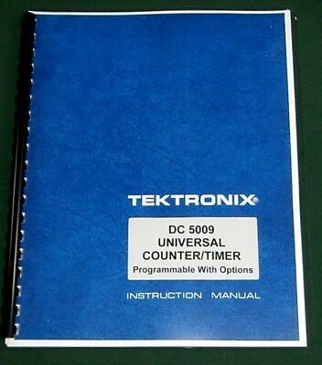 Tektronix Dc 5009 Instruction Manual W 11x17 Foldouts Protective Covers