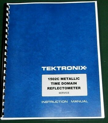 Tektronix 1502c Service Manual W11x17 Foldouts Protective Plastic Covers