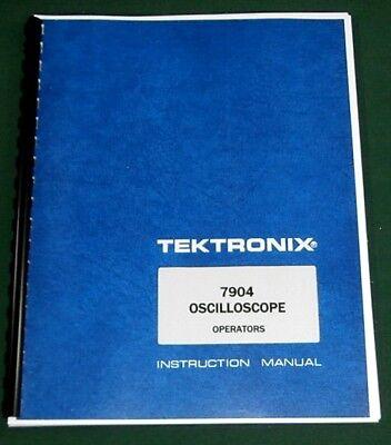 Tektronix 7904 Operation Maintenance Manual 11x17 Foldouts Plastic Covers