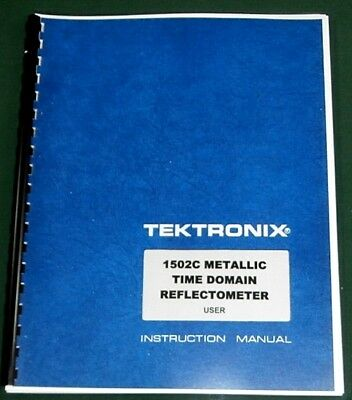 Tektronix 1502c User Manual Comb Bound Protective Plastic Covers