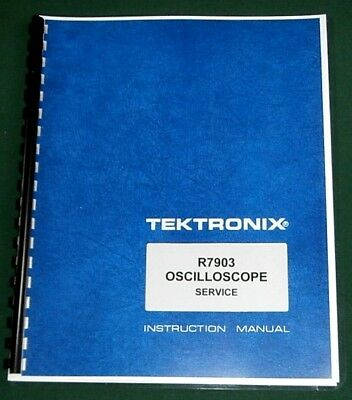 Tektronix R7903 Oscilloscope Manual Comb Bound With 11x17 Foldouts