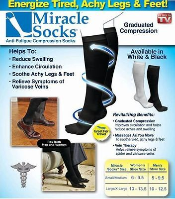 Miracle Socks Comfy Mens Womens Max Comfort Compression High Tall Calf Length