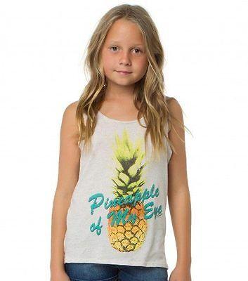 Oneill Girls Tank Top Vintage Pineapple Beige  M (10-12)