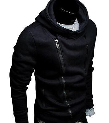 New Mens Slim Fit Zip Up Hoodies Jackets