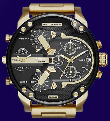New Diesel Original Dz7333 Mr Daddy 2 0 Gold Multiple Time Chronograph Watch