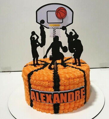 Basketball Theme Party Supplies (Personalized Basketball Sports Theme Cake Kids Topper Party)
