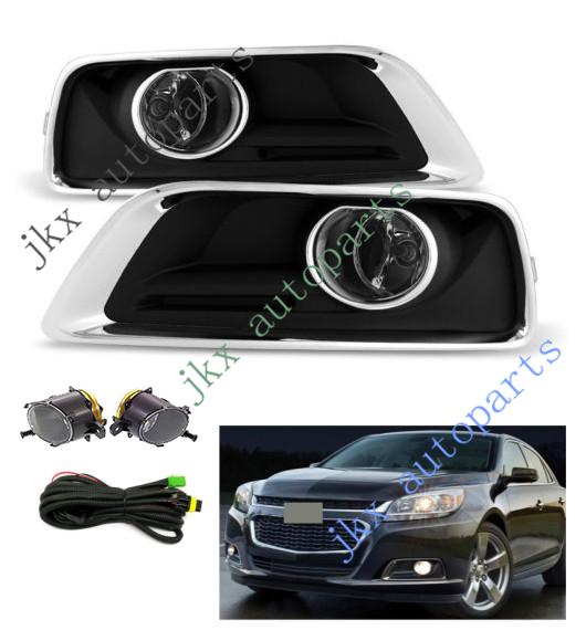 [QMVU_8575]  Clear Fog Lamp Lights Bumper Bezel Wiring Harness Kit For Chevy Malibu 2013- 2015   eBay   2015 Silverado Fog Light Wiring Harness      eBay