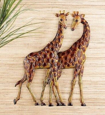 Giraffe African Safari Dimensional Metal Wall Art Hanging Home Decor ()