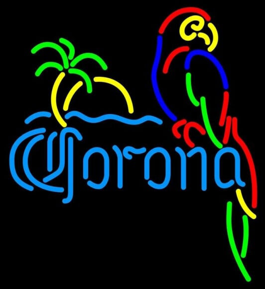 """New Corona Parrot with Palm Beer Neon Light Sign 17""""x14"""""""
