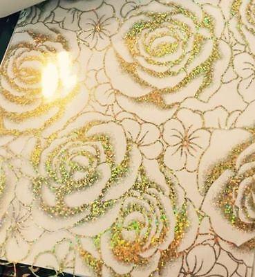 Tischfolie Tischdecke Tischschutz Schutzfolie 90 cm Milchig rose gold 2mm folie ()