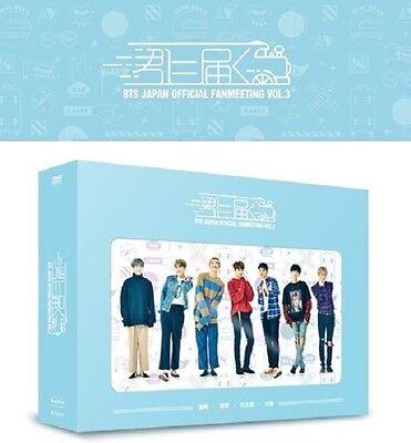 NEW BTS Bangtan Boys OFFICIAL JAPAN FANMEETING VOL.3 DVD + Photo book + Card