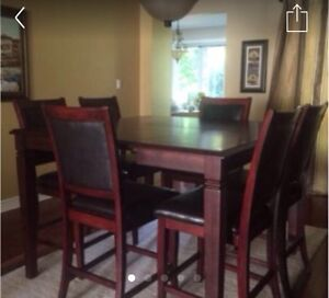 High Quality High Top dining table - 8 chairs!!