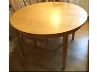 Ikea Birch Double Extendable Dining Table Large Seating Capacity Perfect For Christmas Crawley £30