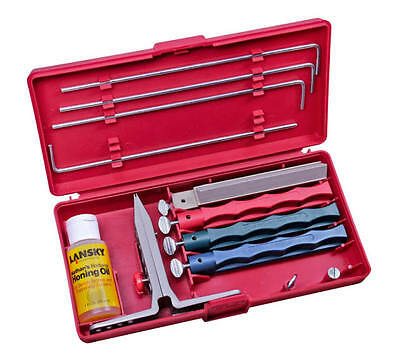 Lansky Universal 4-Stone System Knife Clamp Four Sharpening Hones LKUNV