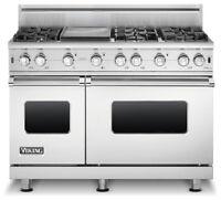 Combo cuisinière au gaz professionnelle Viking + Hotte en stainl