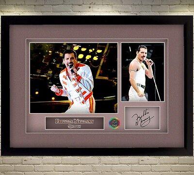 Freddie Mercury Queen signed autograph Music Memorabilia pop WITH FRAME