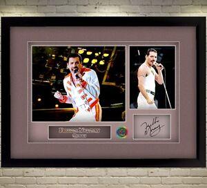 Freddie Mercury Queen signed autograph Music Memorabilia FRAMED