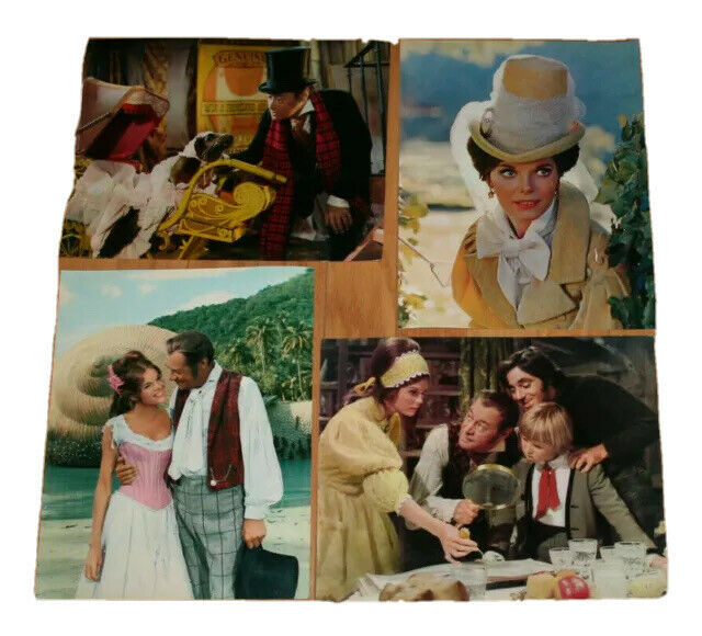 "lot 17 vintage Graphocolor Color Photos from Doctor Doolittle 1967 Italy 14""x11"""