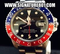Rolex Pepsi Bezel Stainless Steel GMT-Master Wristwatch