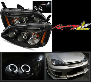 2001-2003 Honda Civic Projector Headlights with Halo & LED DRL