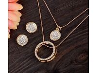 Earrings chain and pendant set
