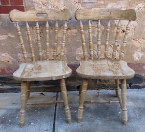 Vintage Shabby Chic Kitchen Chairs x 2 Walkerville Walkerville Area Preview
