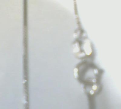 (14k Fine White Gold 0.5mm Wide 20