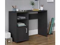 Black Desk with Shelves